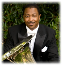 Kenneth Amis, tuba player of the Empire Brass